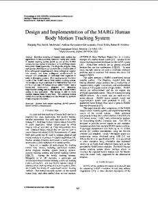 Design and implementation of the MARG human body motion tracking ...