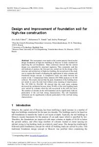 Design and Improvement of foundation soil for high-rise construction
