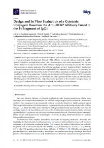 Design and In Vitro Evaluation of a Cytotoxic Conjugate Based ... - MDPI