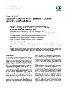 Design and Microwave Assisted Synthesis of Coumarin Derivatives as ...
