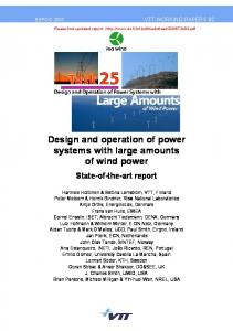 Design and operation of power systems with large amounts ... - VTT