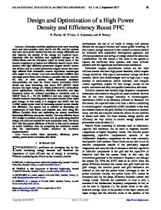 Design and Optimization of a High Power Density and ... - DergiPark