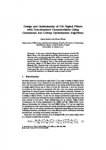 Design and Optimization of IIR Digital Filters with Non-standard ...