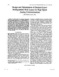 Design and optimization of strained-layer-multiquantum-well lasers for