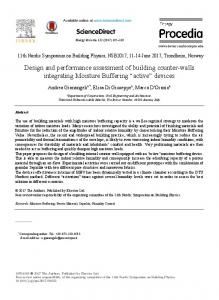 Design and performance assessment of building ... - ScienceDirect.com