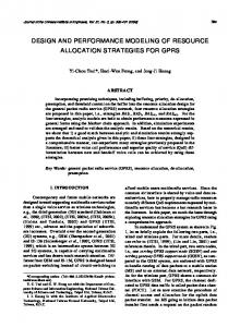 design and performance modeling of resource allocation strategies for