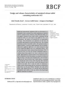 Design and release characteristics of sustained release ... - SciELO