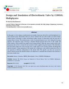 Design and Simulation of Electrokinetic Valve by