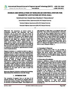 Design and Simulation of Nonlinear Control System for Magnetic ... - Irjet