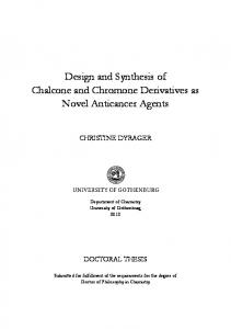 Design and Synthesis of Chalcone and Chromone Derivatives - GUPEA