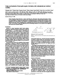 Design and Synthesis of Hydroxyferroquine ... - ACS Publications