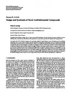 Design and Synthesis of Novel Antileishmanial Compounds