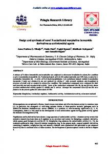 Design and synthesis of novel N-substituted morpholino ... - iMedpub
