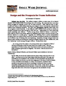 Design and the Prospects for Frame Reflection - Small Wars Journal