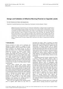 Design and Validation of Affective Warning Pictorial on Cigarette Labels