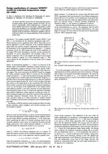 Design applications of compact MOSFET model for ... - IEEE Xplore