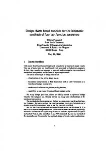 Design charts based methods for the kinematic