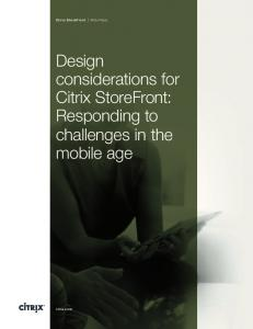 Design considerations for Citrix StoreFront: Responding to ...