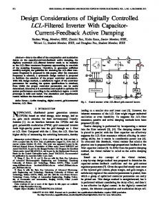 Design Considerations of Digitally Controlled LCL ... - IEEE Xplore