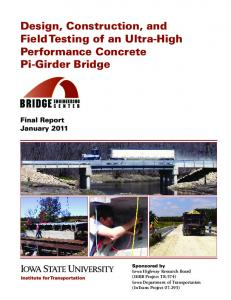 design, construction, and field testing of an ultra-high performance ...