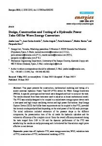 Design, Construction and Testing of a Hydraulic Power Take ... - MDPI