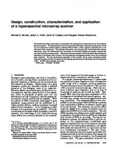 Design, construction, characterization, and application of ... - CiteSeerX