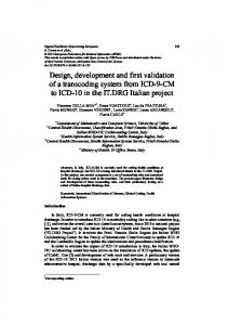 Design, development and first validation of a ... - Semantic Scholar