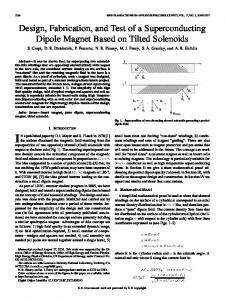 Design, Fabrication, and Test of a Superconducting Dipole Magnet ...