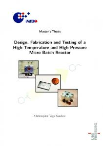 Design, Fabrication and Testing of a High