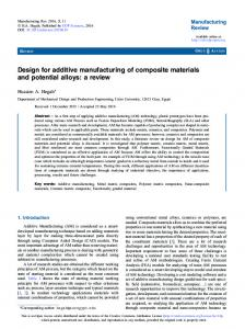 Design for additive manufacturing of composite ... - CyberLeninka