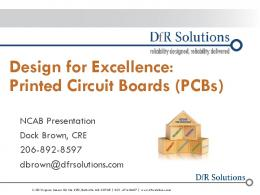 Design for Excellence: Printed Circuit Boards (PCBs)