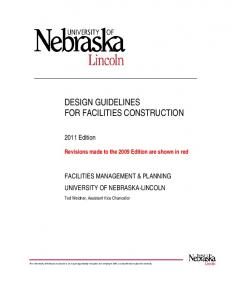 DESIGN GUIDELINES FOR FACILITIES CONSTRUCTION