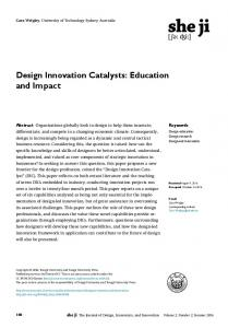 Design Innovation Catalysts: Education and Impact - CyberLeninka