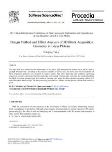 Design Method and Effect Analysis of 3D Block ... - Science Direct