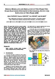 DESIGN, MODELLING AND SIMULATION OF TWO-PHASE TWO ...