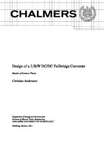 Design of a 2.5kW DC/DC Fullbridge Converter - Chalmers ...