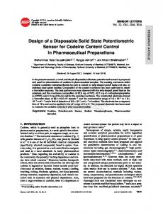 Design of a Disposable Solid State Potentiometric