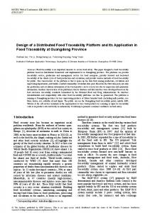 Design of a Distributed Food Traceability Platform and Its Application ...