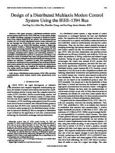Design of a Distributed Multiaxis Motion Control ... - Semantic Scholar