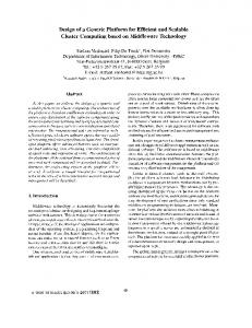 Design of a Generic Platform for Efficient and Scalable Cluster