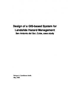 Design of a GIS-based System for Landslide Hazard Management