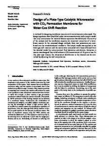 Design of a PlateType Catalytic Microreactor with