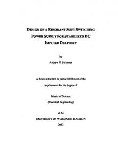 design of a resonant soft switching power supply for ...