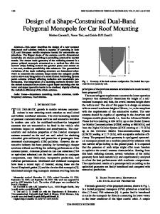 Design of a Shape-Constrained Dual-Band Polygonal ... - IEEE Xplore