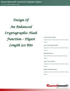 Design Of An Enhanced Cryptographic Hash Function ...