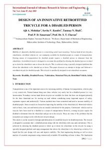 design of an innovative retrofitted tricycle for a