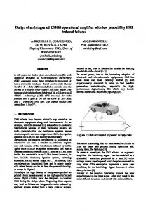 Design of an integrated CMOS operational amplifier with ... - IEEE Xplore