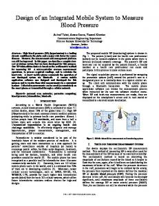Design of an Integrated Mobile System to Measure ... - IEEE Xplore