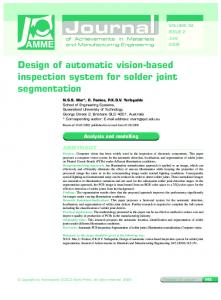 Design of automatic vision-based inspection system for solder joint ...