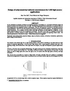 Design of axisymmetrical tailored concentrators for LED light source ...